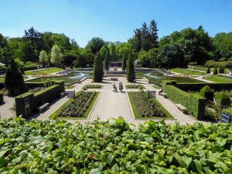 Der Parterregarten von Schloss Arcen
