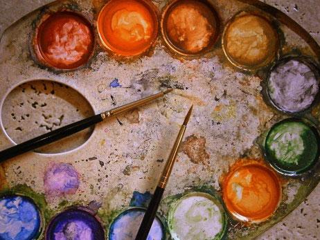 Kreativität, farbenfroh, volles Potential