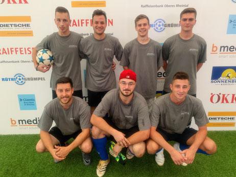 von hinten links nach rechts: Stefan Radisic, Michael Heeb, Jérome Feusi, Gabriel Horg. von vorne links nach rechts: Stefan Gschwend, Cedric Affuso, Alexander Radisic