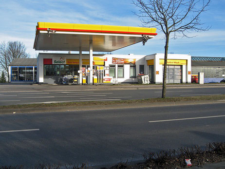 ehemalige Shell Tankstelle