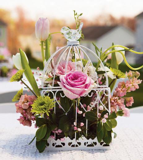 arreglos con flores para mesa