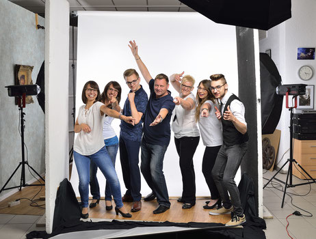 Making of,  Fotostudio, Brillenteam Wörth