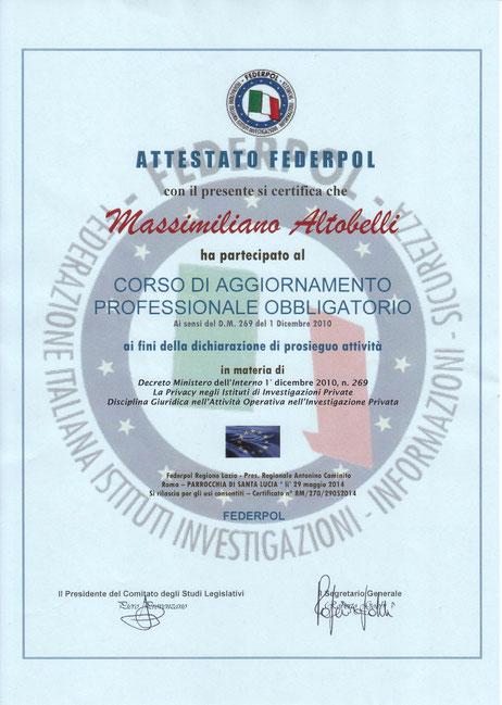 Massimiliano Altobelli - Investigatore Privato a Roma
