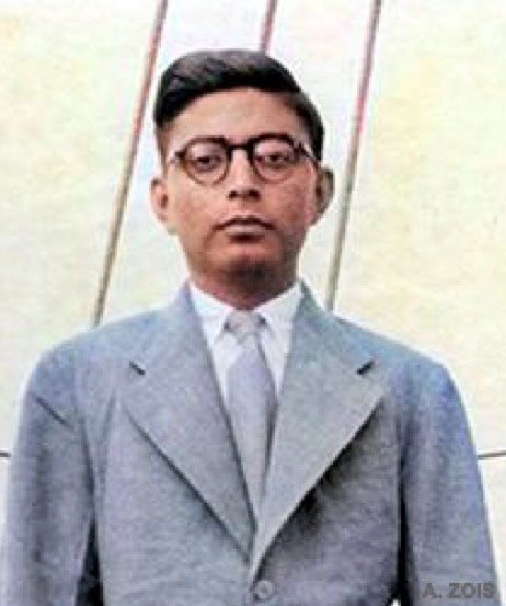 Sam Kerawala. Image trimmed & colourized by Anthony Zois.