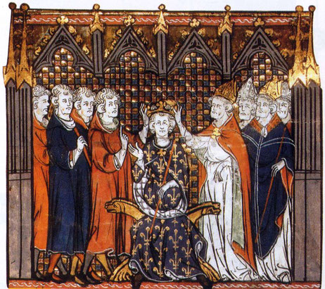 Babylone la grande a pratiqué l'immoralité avec les rois de la terre. C'est l'union du sabre et du goupillon, du trône et de l'autel ; c'est la doctrine des 2 sabres. Charlemagne est couronné empereur par le pape Léon III, en l'an 800, à Rome.
