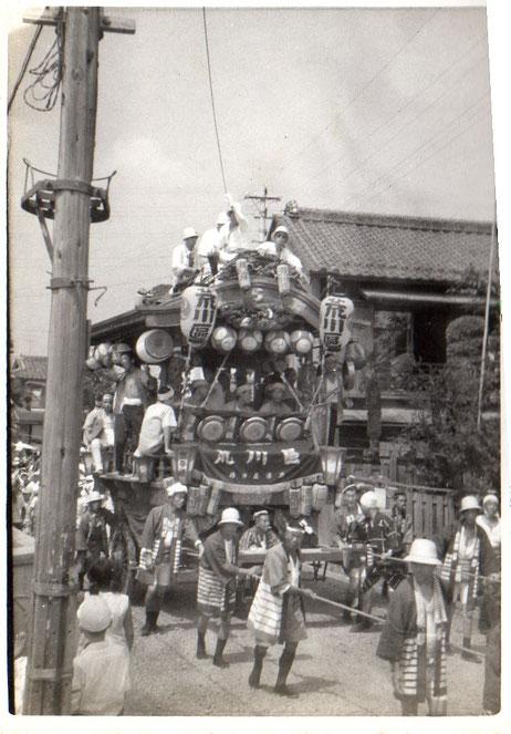 昭和30年代の町内巡行
