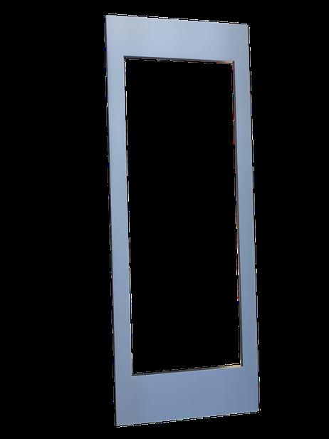 puerta vinoteca a medida en acero inoxidable