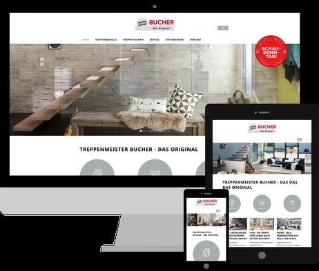 Jimdo Expert Stuttgart - Webdesign & SEO für Jimdo Homepages www.bucher-treppen.de
