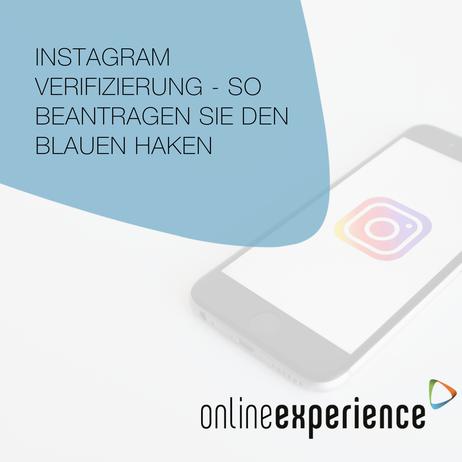 Instagram Verifizierung - So beantragen Sie den blauen Haken