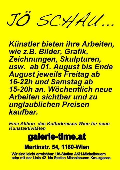 Galerie Time Günther Wachtl Künstler Jö Schau Minikunstmarkt