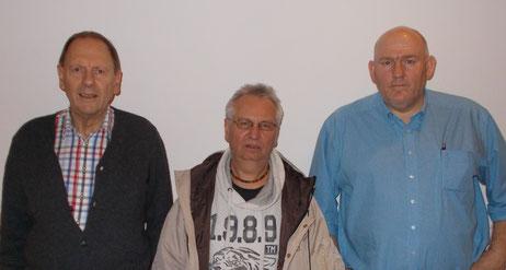 v.l. Albert Vosseler (2.-3971 Punkte) , Harry Ehrig (Sieger-3987) und Volker Willer (3.-3893)