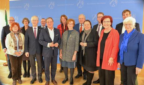 Mitglieder des Rates für Nachhaltige Entwicklung treffen Ministerpräsident Armin Laschet und Umweltministerin Ursula Heinen-Esser