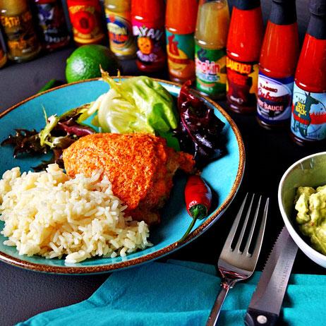 Mexikanische Küche: Huhn in Sauerrahm