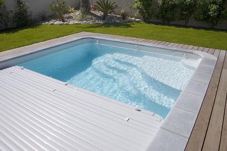 Couvertures piscines Aqua services Balaruc les bains