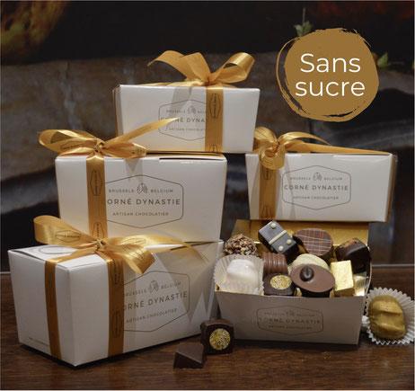 Pralines sans sucres -  Corné Dynastie - chocolat