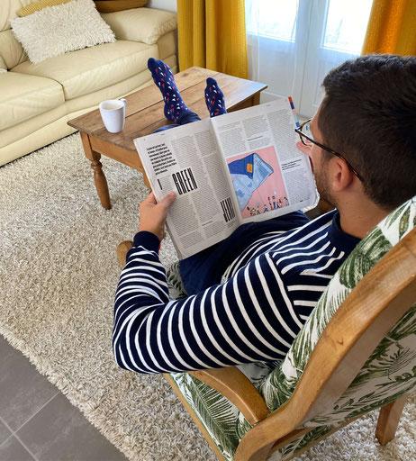 Eirene socks propose des chaussettes à motifs fabriquées en France