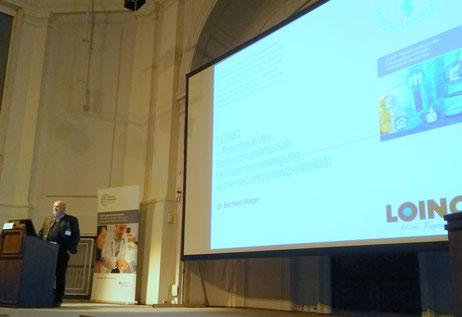 Dr. Bernhard Wiegel auf dem Workshop der Medizininformatik-Initiative zum Thema LOINC im Labor