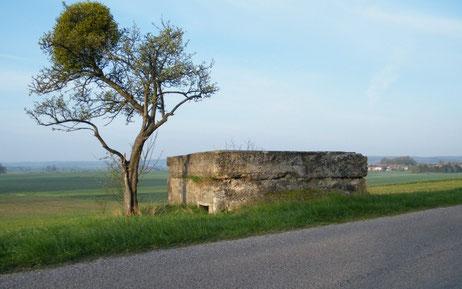 Bunker am Straßenrand