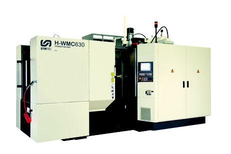 Hybrides FSW-CNC-Bearbeitungszentrum H-WMC630 mit horizontaler Spindel und automatischem Palettenwechsler von Stirtec in Premstätten