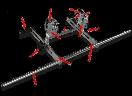 LeiKoSi Leiterkopfsicherung mit Teilebezeichnung