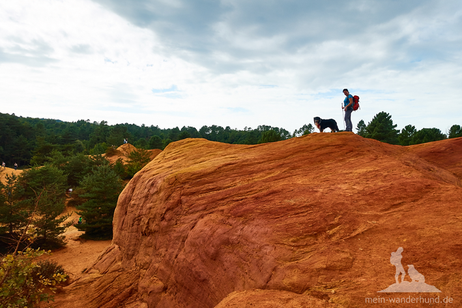 """In der sogenannten """"Sahara"""" des Colorado provençal reihen sich solche Dünen aneinander."""