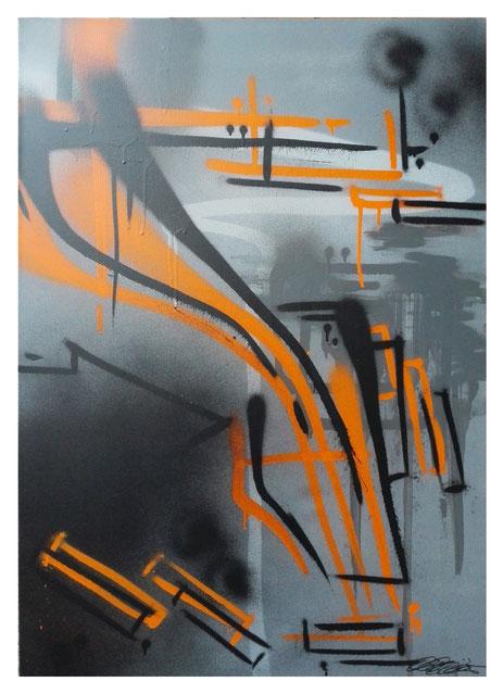 Leinwand auf Keilrahmen Jahr: 2015 Titel: C the study Größe: 70x100cm ZUM VERKAUF Preis auf Anfrage