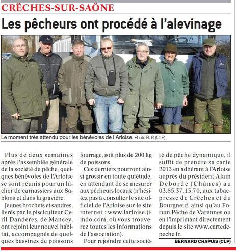 Article paru dans le Journal de Saône et Loire