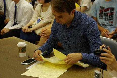 アイルランドを代表するフィドル奏者オシーン・マクディアマダが日本予選の審査員を務めました