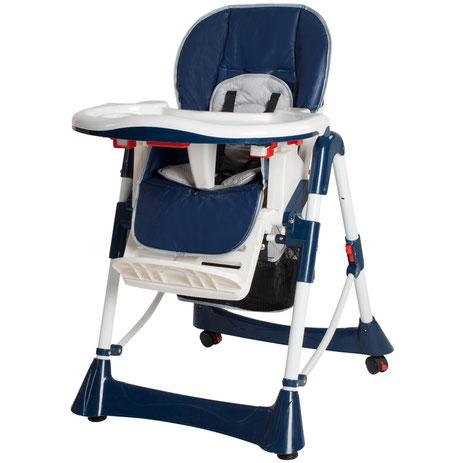 Chaise Haute Bébé / Enfant en Bleu