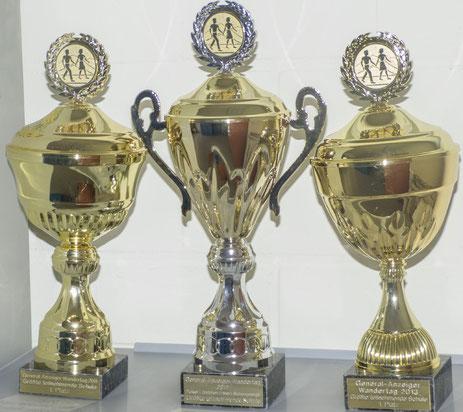 Pokale in allen Größen und Formen: Dies ist nur ein kleiner Teil der Pokalesammlung des CvO