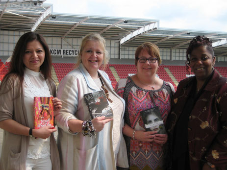 From left we are: Sufiya Ahmed, Kate O'Hearn, me, and Dorothy Smith (Director of Schools and Lifelong Learning, Rotherham Metropolitan Borough Council)