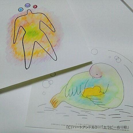 塗り絵アートセラピーお客様の作品例