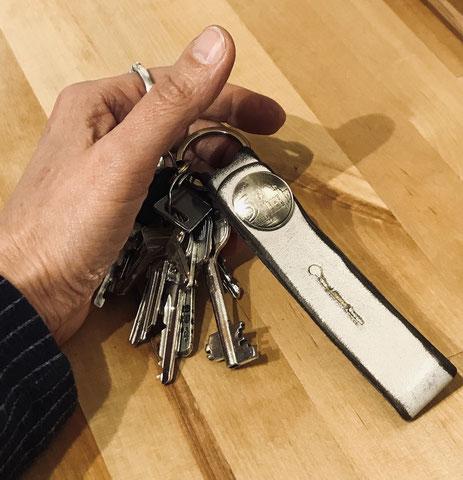 Schlüsselanhänger mit Original Münzen für die Handtasche