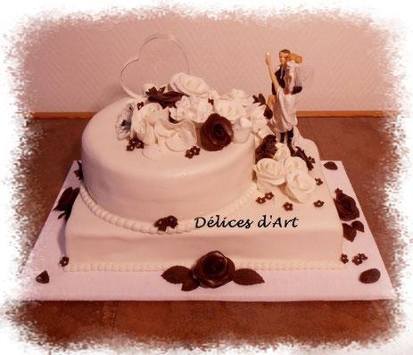 Mariages, Baptêmes, Communion - Décorations de gâteaux. delicesdart