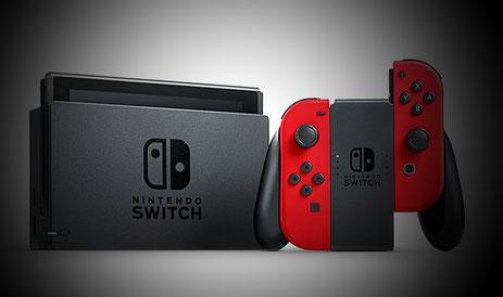 Nintendo Switch Rot mit Zubehör