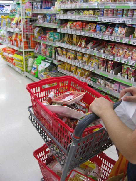 スーパーマーケットのお買いもの