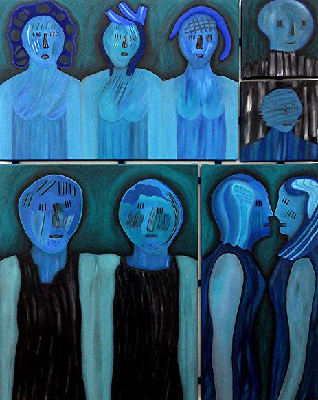 Gruppenbild 2: Öl auf Leinwand, 100 x 80 cm, 2017