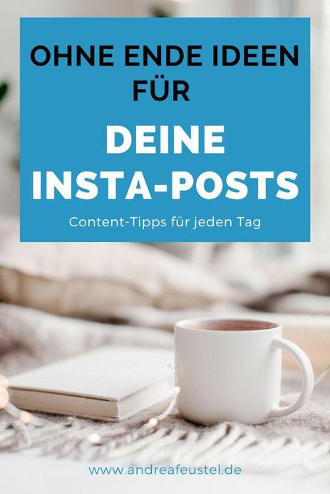 Instagram Content Ideen für jeden Tag - Content tipps