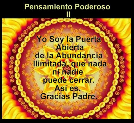PENSAMIENTO PODEROSO DIARIO  II - PROSPERIDAD UNIVERSAL - www.prosperidaduniversal.org