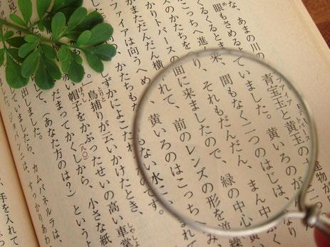 国語の文章を精読しているイメージ