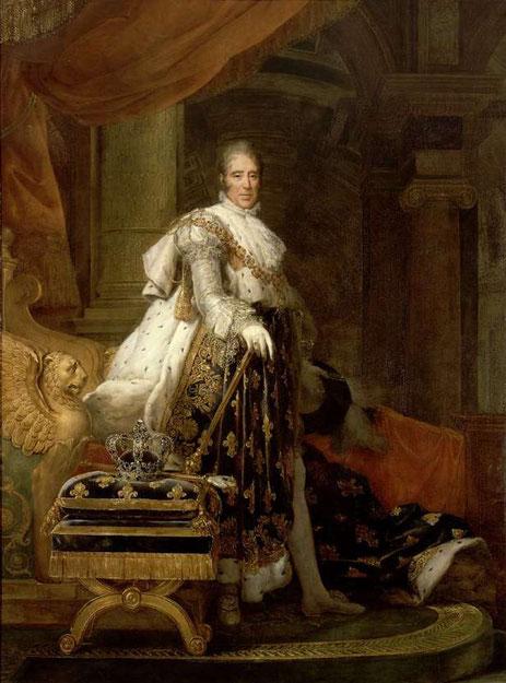 Tableau peinture de Charles X par Francois Gerard, 1825