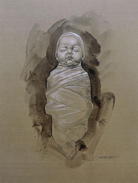 "F.MARTIN© Dessin étude ""Nativité-1"""