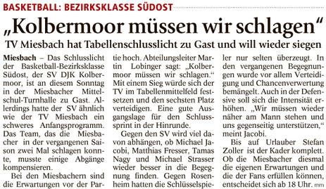 Artikel im Miesbacher Merkur am 26.11.2016 - Zum Vergrößern klicken