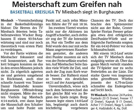Bericht im Miesbacher Merkur am 25.2.2020 - Zum Vergrößern klicken