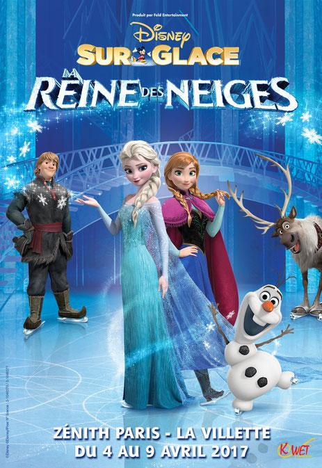Disney sur glace un spectacle evenement Pâques 2017 avec la Reine des Neiges pour toute la famille