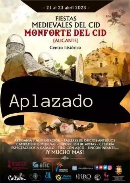 Programa de las Fiestas del Cid en Monforte del Cid
