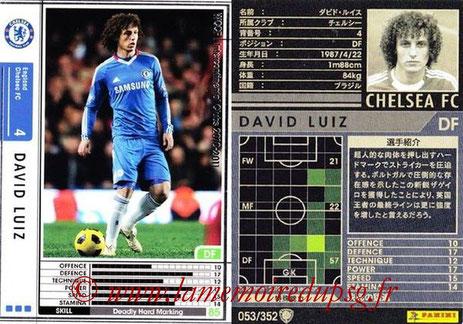 N° 053 - David LUIZ (2010-11, Chelsea, GBR > 2014-??, PSG)