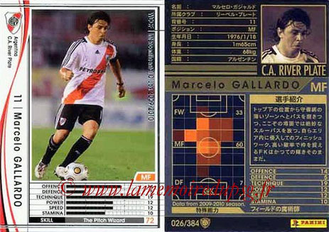 N° 026 - Marcelo GALLARDO (2006-08, PSG > 2009-10, River Plate, ARG)