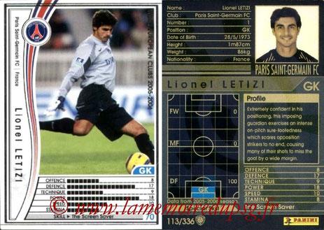 N° 113 - Lionel LETIZI