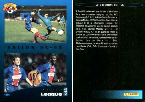 N° S14 - Bilan Saison 94-95